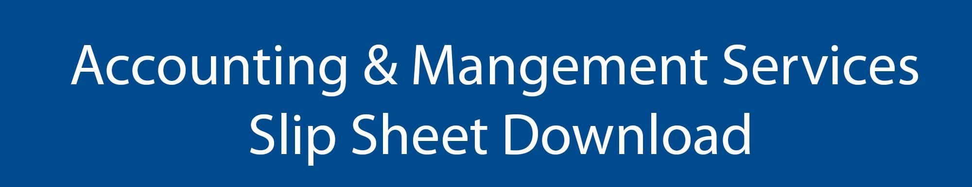 Lang Allan & Company Accounting Management slip sheet